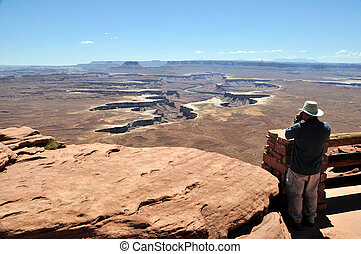 Grand View from Island in the Sky - Canyonlands National...