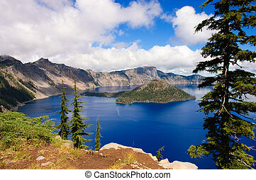 Crater Lake, Oregon, a caldera left from a gigantic volcanic...