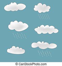 lluvioso, Conjunto, nubes