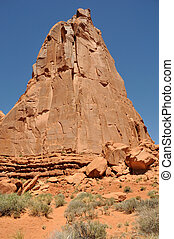 Sandstone Monolith - Arches National Park