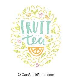 Fruit tea label.