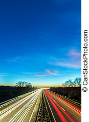 Highway between the Dutch cities of Arnhem and Doesburg -...