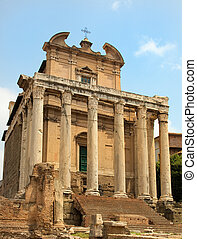 Temple to Faustina in the Roman rorum, Rome, Italy
