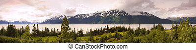 Panorama of alaska - Panorama of Alaska, with the turn...