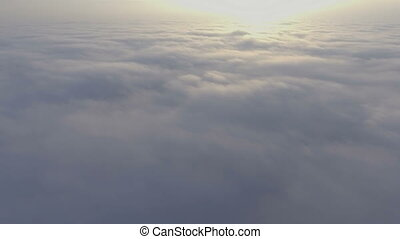 aerial view above the clouds. - aerial view above the clouds