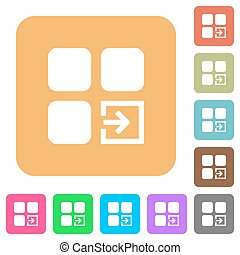 Import component rounded square flat icons - Import...