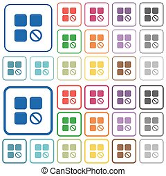 Component disabled outlined flat color icons - Component...