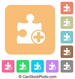 Add new plugin rounded square flat icons - Add new plugin...