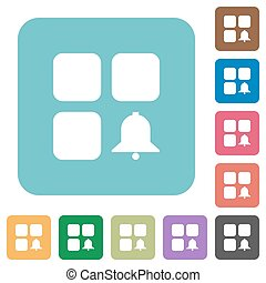Component alert rounded square flat icons - Component alert...