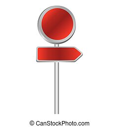 red advices with sign, vector illustraction design image