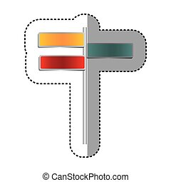 color differents route advices icon, vector illustraction...