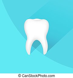 Tooth Icon With Gradient Mesh, Vector Illustration