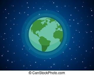 Globe in space