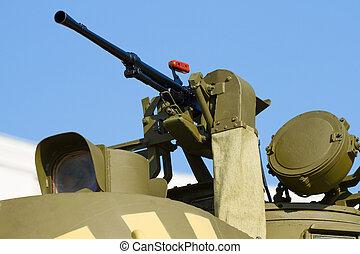 máquina, faro, arma de fuego