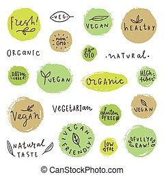 Set og vegan signs.