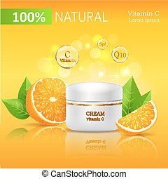 100 Natural Cream with Vitamin C Illustration - Natural...