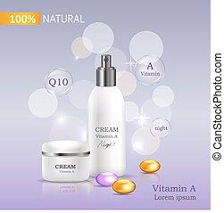 100 Natural Cream with Vitamin C Bank and Spray - Natural...