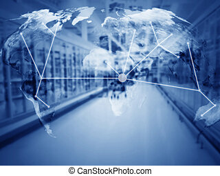 Supply Chain Management Concept, Copy Space - Global trading...