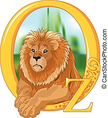 The Cowardly Lion. Wizard of Oz illustration