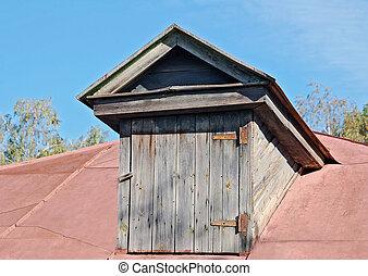 Old garret door