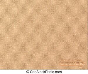 Textured recycled cardboard with fiber parts. Realistic cardboard background. Craft paper backdrop
