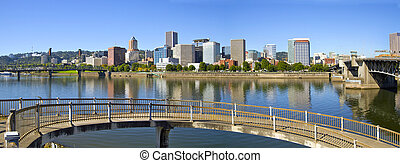 Portland Oregon Downtown Skyline Panorama 2 - Portland...