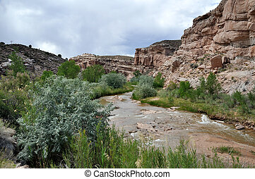 Desert River outside Capitol Reef National Park