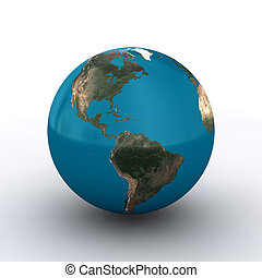 Globe Asia 3D - Earth With Asia Frontside