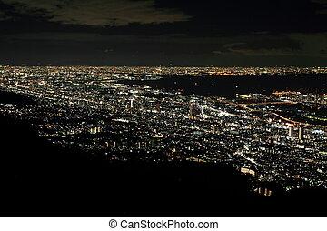10 million dollars night view of Kobe, Japan