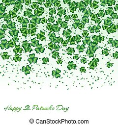 Shamrock pattern green - Pattern Saint Patrick Day with...