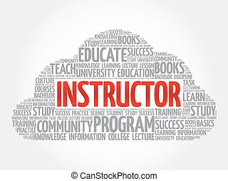 INSTRUCTOR word cloud collage