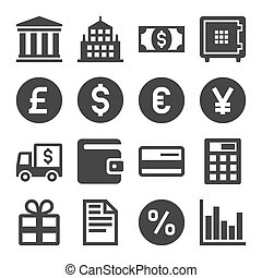 Banking and Finance Icons Set. Vector illustration