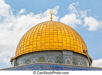 Dome of the Rock detail - Detail of the Dome of the Rock...