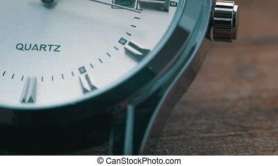 Luxury men's watch close up - Modern quartz men's watch...