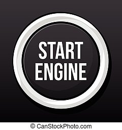 start engine button for vehicle ignition vector illustration
