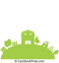 Farm Fence Clipart clipart of country farm morning - rooster perched upon a farm