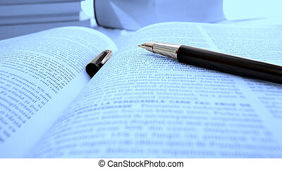 Opened book - Macro image of an opened book