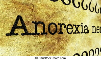 Anorexia nervosa grunge concept