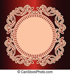 Vector illustration of calligraphic elements and page decoration.