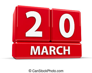Cubes 20th March - Red cubes - The Twentieth of March - on a...