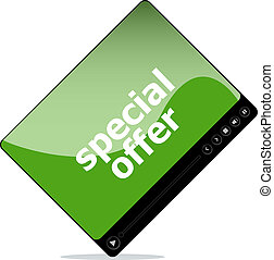 Video movie media player with special offer on it