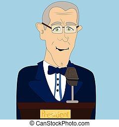 President giving a speech