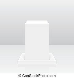 Round pedestal for display. - Pedestal for display. Platform...