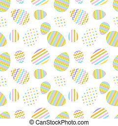 Pastel seamless vector pattern with Easter eggs.