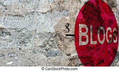 Blogs target concept