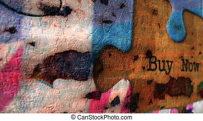 Buy now grunge puzzle concept