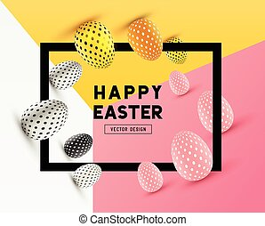 Easter Frame Design - An abstract Easter Frame Design with...