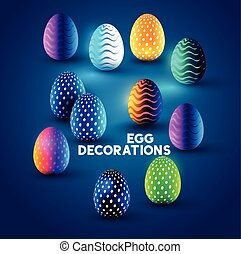 Easter Egg Designs - A collection of fresh colourful easter...