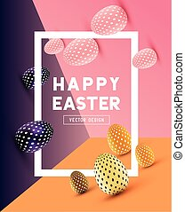 Abstract Modern Easter Design - An abstract Easter Design...