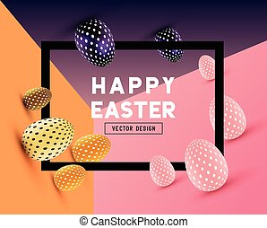 Easter Event Design - An abstract Easter Design with 3D...